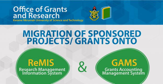 Migration of Sponsored Projects onto the ReMIS and GAMS